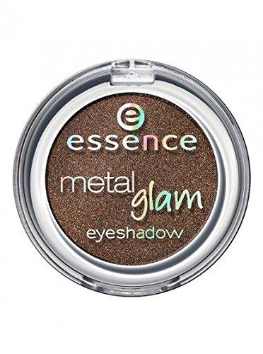 Essence Metal Glam eyeshadow, Ombre à paupières avec texture métallique pour un effet intense brillant de couleur n°05 Chocolate jewelery, 2.7 g, 0.09 oz. Tenue longue durée