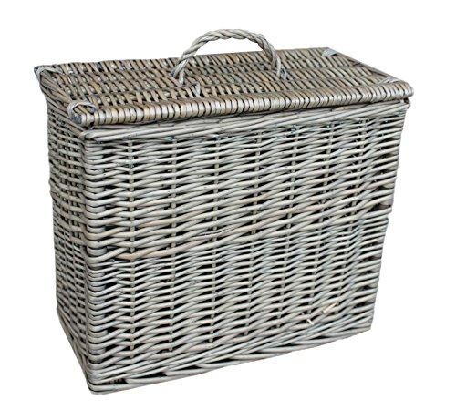 Choice Baskets Weidenkorb, Antik-Optik, rechteckig, mit Deckel -