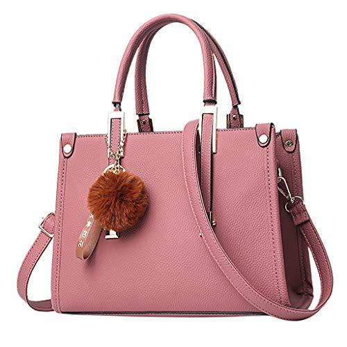 Tohole Damen Handtaschen Groß Taschen Leder Moderne Handtasche Gross Schultertasche Frauen UmhäNgetasche Handbag (khaki) - 6000 Microsoft Maus