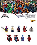 Mini Figurines MARVEL DC COMICS Batman, Spider-Man, Hulk, Thor, Wolverine, Superman, Captain America, Iron Man