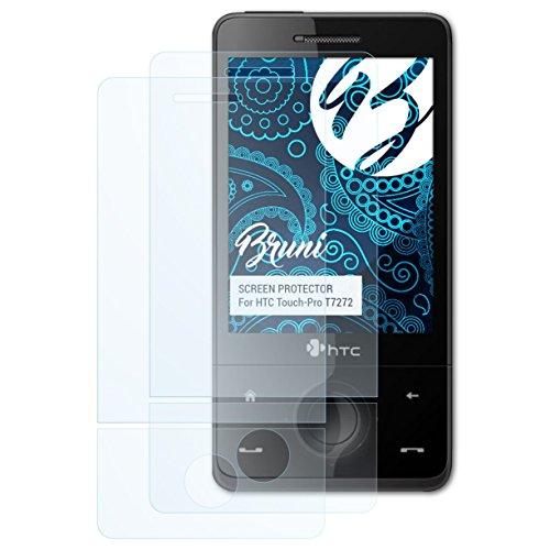 Bruni Schutzfolie kompatibel mit HTC Touch-Pro T7272 Folie, glasklare Displayschutzfolie (2er Set) Htc Touch Pro Smartphone