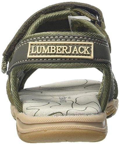 Lumberjack Levi, chaussures à bouts ouverts garçon Verde (Camouflage Green)