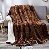 Oikupe Sherpa Fleece Blanket Twin Size Plush Throw Blanket Fuzzy Soft Blanket Microfiber Geeignet Winter für Schlafcouch Wohnzimmer (Braun),200x230cm