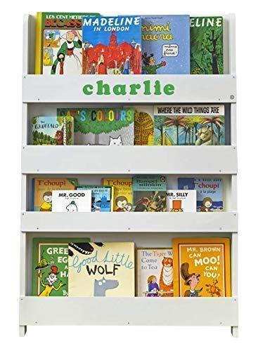 Tidy Books ® - Bücherregal Kinder | Cremeweiß | Personalisiert | Wandregal Kinderzimmer mit Holzbuchstaben | Montessori Material | 115 x 77 x 7 cm | Handgefertigt | Nachhaltig | Das Original seit 2004 -