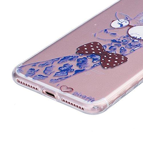 Voguecase® Per Apple iPhone 7 4.7, Custodia Silicone Morbido Flessibile TPU Custodia Case Cover Protettivo Skin Caso (Daisy 05) Con Stilo Penna Tie cervo