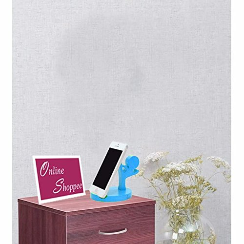 Onlineshoppee® Wooden Mobile Tablet Ipad Stand - Sky Blue