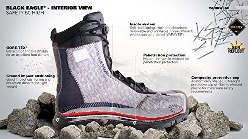 Haix 300007 Black Eagle Athletic 11 Mid Functional Work Leisure Boot Noir