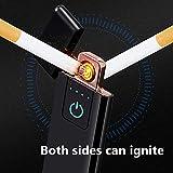 Foho USB Feuerzeug, Technologie - Touchscreen Elektronisches Feuerzeug, Winddichte Flammenlose, Lichtbogen Feuerzeug, USB Wiederaufladbar für Küche, Grill, Kerzen und Zigaretten Test