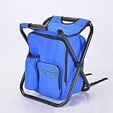 Basong Angelrucksack Angelstuhl Rücksackstuhl mit Eistasche Faltbar für Camping Outdoor Picknick