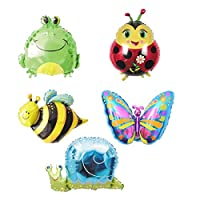 Ximkee Butterfly Snail Frog Ladybird Bee Foil Balloons Zoo Festival Party Supplies-18