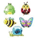 ximkee Schmetterling Schnecke, Frosch Marienkäfer Biene Folie Ballons Zoo Festival Party supplies-18