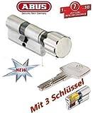 ABUS EC550 Profil-Knaufzylinder Länge Z40/K40mm mit 3 Schlüssel