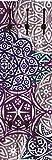 Artland Qualitätsmöbel I Garderobe Wandpaneele mit Motiv 45 x 140 cm Abstrakte Motive Muster geometrische Formen Digitale Kunst Bordeauxrot D1JP Marokkanischer Stil_brombeerfarben
