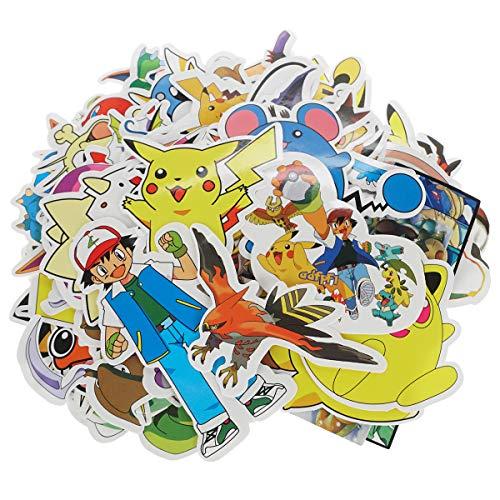 Gift4Fever Hochwertige Pokemon Vinyl Aufkleber, 60 Stück