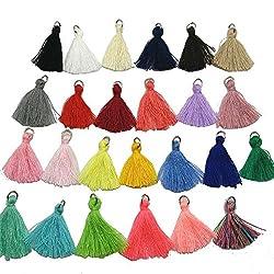25pcs/lot Cotton Thread Tassels Mini Tassels DIY Craft Supplies Jewelry Tassels Chunky Tassel Fringe Trim