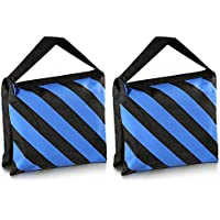 Neewer® Kit de 2 Negro/Azul Bolsa de Arena para Tareas Duras de Estudio Fotográfico Plataforma Cine para Brazo Jirafa Trípode Soporte de Luz