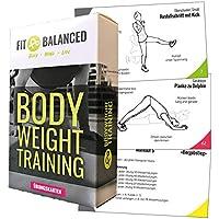 Fit&Balanced Bodyweight Training Sport Karten, Trainingskarten mit Workouts, Fitness für Zuhause