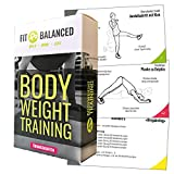 Fit&Balanced Bodyweight Training Sport Karten, Trainingskarten mit Workouts, Fitness für Zuhause