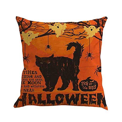 Dragon868 Kissenbezug 45 × 45Cm Halloween Kürbis Kissen Koffer Sofa Taille Werfen Kissen Decken Haus Dekoration