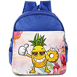 Ligero Todder Kid Mochila Cute Pattern Cartoon piña Schoolbag Kid Regalo Ideal aperitivos bolsa de hombro para bebé niñas niños, RoyalBlue