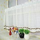 1er Pack Klassiker Kleine Gitter Style Scheibengardine Bistrogardine Küchengardine, Weiß, BxH 140x100cm