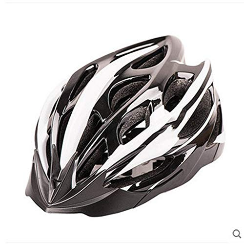 HS-GUANLY 23 Cycling Helmet Leichter EPS Cap Overall Mit PC Windbreaker Fahrradhelm,Blackwhite,M55~59cm (Iron Man-ohrhörer)