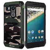 Epxee Cover per LG Nexus 5X, Shock-Absorption Silicone Protezione Custodia per LG Nexus 5X (Mimetico-001)
