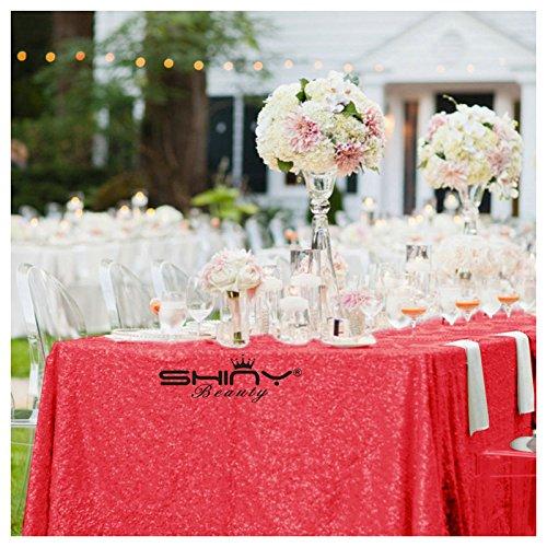 del von Pailletten Tischdecke rot 60x 120gold Hochzeit Set Pailletten Tischdecke (Halloween-dekoration Großhandel Preise)