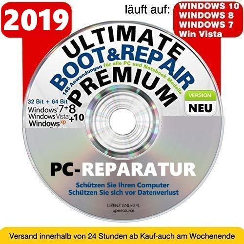 Ultimate Boot CD DVD VERSION (NEU) / Notfall-CD-DVD für Windows 7 , Windows 8, Vista, XP Betriebssysteme System-Diagnose Tools