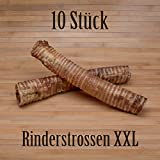 10 Stück Rinderstrossen 30cm Rinderluftröhren Kausnack Kauartikel - wie Pferdestrossen Dörrfleisch