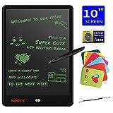 NOBES Tableta de Escritura LCD 10 Inch, LCD Tablero de Dibujo Gráfica, Pizarra Magica para niños, Juguetes Educativo, Mensaje Doodle Pad Electrónico, para Niños, Clase, Oficina, Casa (Negro)