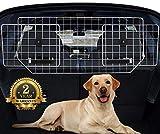 Car Dog Guard Net, Adjustable Boot Guard, Sailnovo Headrest Dog Guards for Car Boot Universal, Car Barrier Net Boot Divider for Dogs, Metal Mesh SUV Dog Guard Cargo, Dog Car Safety Barrier Grill Fence