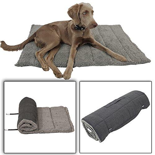 Power-Preise24 Haustierdecke Orkney M 100 x 65 cm - plüschig weiche Hundedecke für unterwegs - Universaldecke für Hunde und Katzen - EIN- und ausrollbar