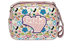 Gola Tado Tutti White Pink Redford Shoulder Record Bag