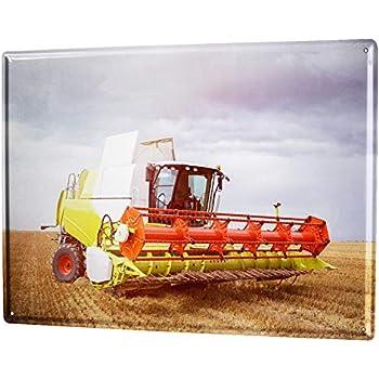 LEotiE SINCE 2004 Plaque en M/étal M/étallique Poster Mural tin Sign Nostalgique Tracteur Moissonneuse batteuse