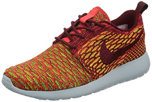 Nike Wmns Roshe One Flyknit, Chaussures de Sport Femme, Rouge Rouge - Rojo (Team Red / Tm Rd-Brght Crmsn-Vlt)