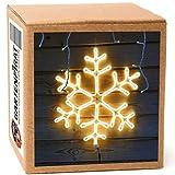 Neon-Lichtschlauchfiguren mit LED beleuchtet zur Deko Weihnachten außen (Schneeflocke 56x56)