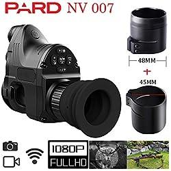 Pard NV007 HD 1080, vision nocturne numérique 200 m de portée 4 x 28 x, infrarouge, vision nocturne infrarouge, application WiFi prise en charge avec anneau de 48 mm