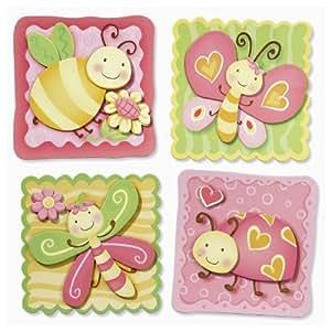 Stickers muraux 3D papillons forme de libellule coccinelle *graz design sticker mural xXL *schultüte mural décoratif pour porte