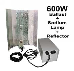 FoxHunter Quality Grow Tent Light Kits Set Includes 600W Ballast Sodium Lamp Reflector