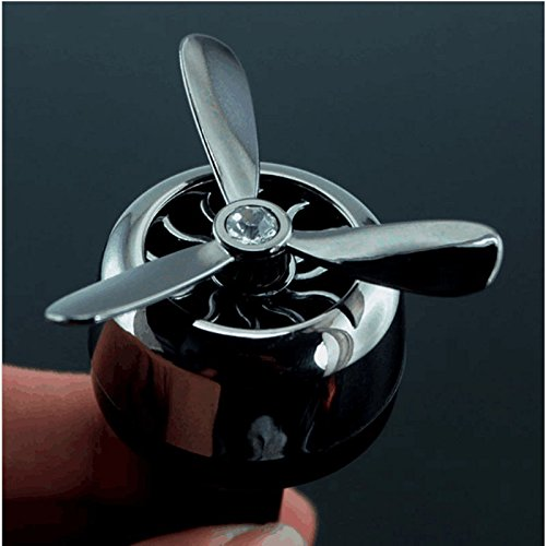Alamor Mini Aircraft Head Fan Car Air Vent Mount Profumo Profumo Deodorante Profumo Profumo Decorazione Auto - Nero