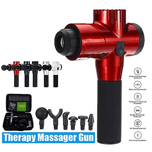 Elektrische LCD Tiefenvibration Muskel pistole Muskelmassagegerät 5 Geschwindigkeit Handheld Perkussive Tiefengewebe Vorrichtung Elektrische Massagegerät Körperlinderung für Muskelschmerzen,Schwarz -