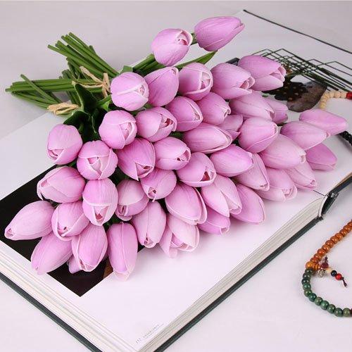 10 pezzi bellezza reale tocco fiori in lattice tulipani fiore bouquet artificiale falso fiore bouquet da sposa decorare fiori per la cerimonia nuziale f