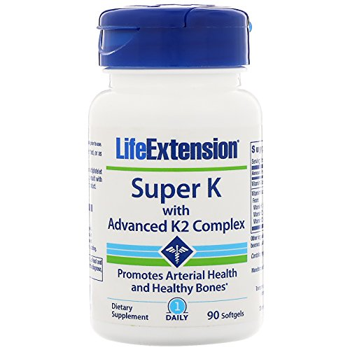 Super K with Advanced K2 Complex, 90 Softgels - Life Extension