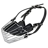 #5: SRI High Quality Steel And PU Dogs Muzzle Basket Design Anti-biting Adjusting Straps Mask For Large Dog