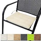 proheim Stuhlkissen Nizza 40 x 40 cm unifarben Sitzkissen für Stühle drinnen und draußen...