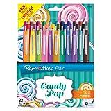 Paper Mate Flair Candy POP stylos feutre, pointe moyenne, assortiment de couleurs, lot de 32