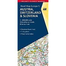 AA Road Map Austria, Switzerland, Slovenia (AA Road Map Europe)