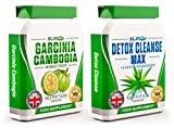 GARCINIA CAMBOGIA x60 + DETOX CLEANSE x60 - Garcinia Cambogia Whole Fruit Max Strength Fat Burner and Colon Cleanse Detox Capsules - Slimming Diet Pills | Suppress Appetite, Block Fat Production and Increase Energy for Weight Loss