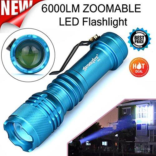 SOMESUN 3 Modi Mini Super Helle Taktische Taschenlampe Freien Wasserdichte Zoom Tragbar Compact Leichte 6000 Lumen Q5 LED Camping Wandern Handlicht Mit Klemme